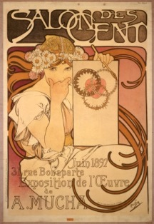 """Poster for Salon des Cent Mucha Exhibition"""